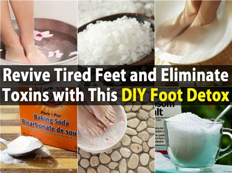 Diy Foot Detox At Home by Revive Tired And Eliminate Toxins With This Diy Foot