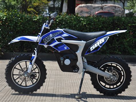 electric motocross bike mototec 36v electric dirt bike 500w lithium blue