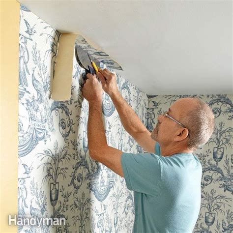 how to hang wallpaper on a ceiling how tos diy how to wallpaper family handyman