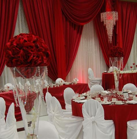 wedding backdrop design red red and white backdrop and decor wedding venues pinterest