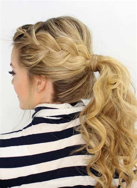 braid into ponytail 10 braided side hairstyles hairstyles haircuts 2016