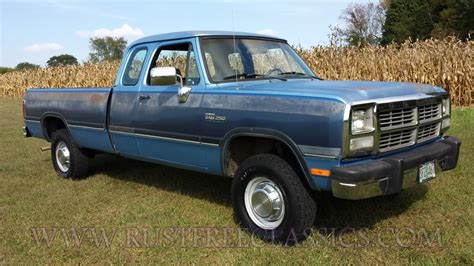 91 dodge truck 1991 dodge w250 extended cab 4x4 91 power ram