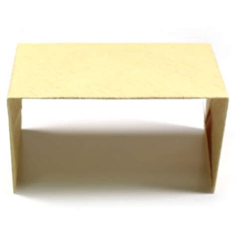 How To Make An Origami Desk - how to make a simple origami desk page 1