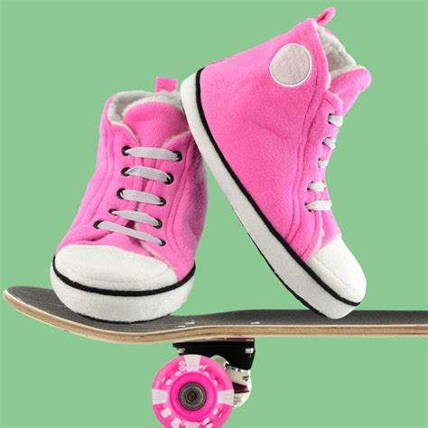 Kids Pink High Top Slippers Find Me A Gift