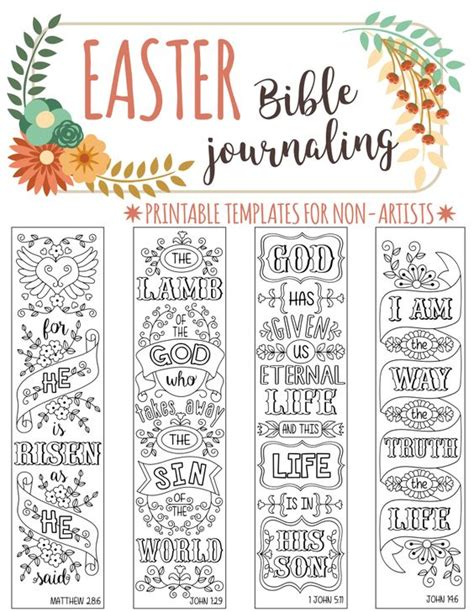 scripture journal templates easter 4 bible journaling printable templates