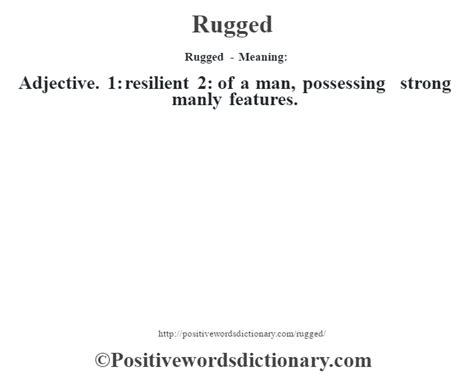 rugged definition rugged definition rugged meaning positive words dictionary