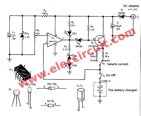 simple battery charger circuit diagram simple nimh battery charger circuit diagram best
