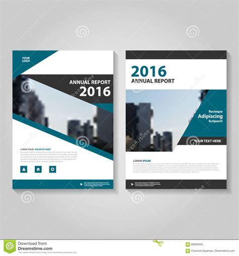 leaflet design books circle polygon green blue annual report leaflet brochure