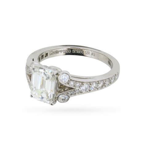 cartier paved ballerine 1 51 carat emerald cut