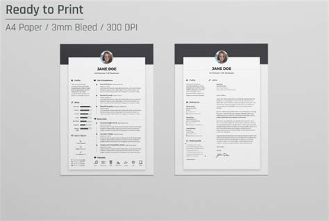 resume template indesign cs6 free resume cv design template cover letter in doc psd ai indd resume