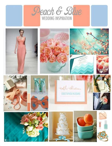 peach and wedding color palette inspiration color