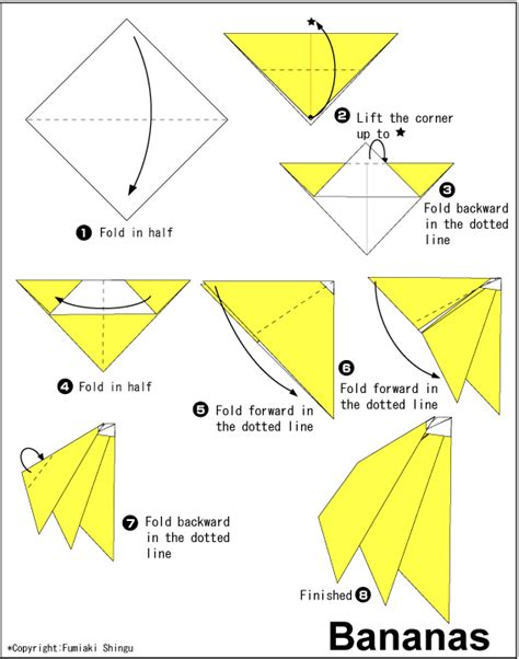 origami banana origami that s and easy