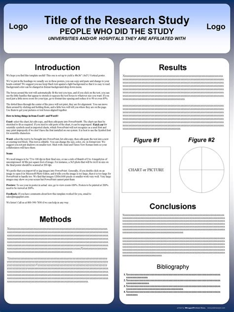 poster template free free powerpoint scientific research poster templates for