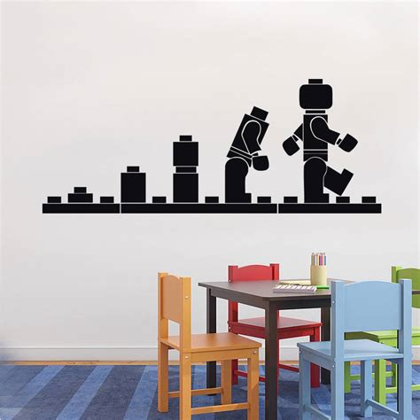 lego home decor lego evolution decal wall sticker home decor art vinyl