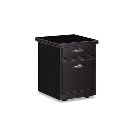 Kathy Ireland Home By Martin Tribeca Loft 2 Drawer Mobile 2 Drawer Black Wood File Cabinet