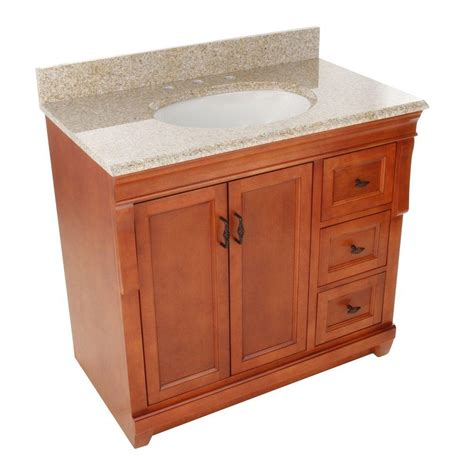 Vanity Granite by Foremost Naples 37 In W X 22 In D Bath Vanity In Warm