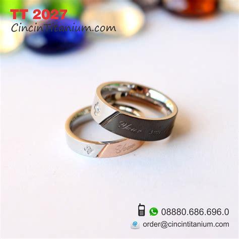 Cincin Pria Titanium 316l Unik Keren cincin titanium hitam asli pernikahan harga kaskus murah