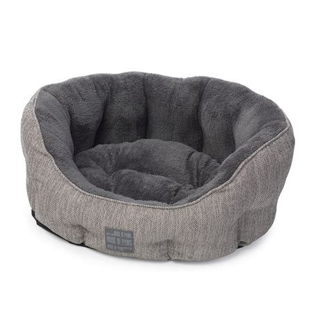 house paws house of paws grey hessian dog bed from 163 37 50