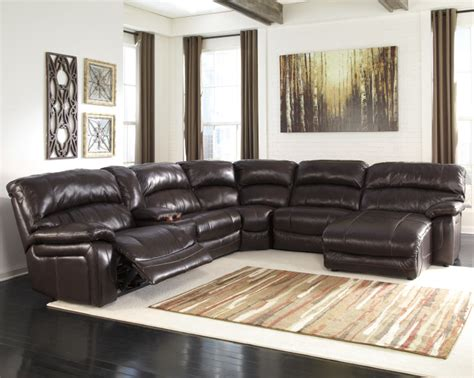 living room decor with black leather sectional chaise sofa