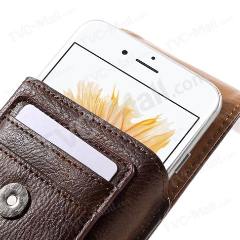 Primary Pouch Samsung S5 Brown belt clip leather pouch for samsung galaxy s7 size