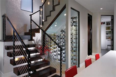 under stairs wine cellar stair railing ideas to improve home design