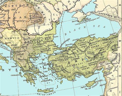 byzantine empire map byzantium maps