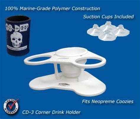 corner with cup holders boat drink holders cd 3 corner drink holder marine