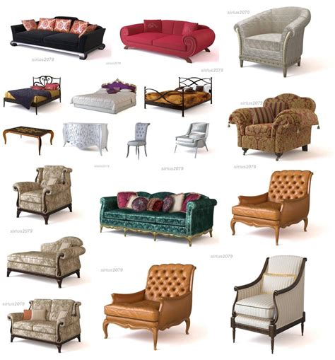 3d design furniture 3d models of classic furniture for design and decoration of houses