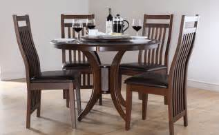 Dining Table And Chair Set Somerset Java Dining Room Table And 4 Leather Chairs Set Ebay