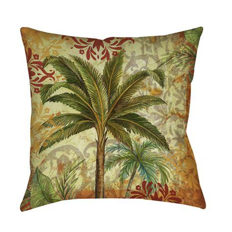 decorative throw pillows thumbprintz palms pattern decorative throw pillow ebay