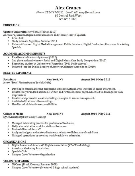 simple resume sles for fresh graduates sle resume format for fresh graduate without work experience free resumes tips