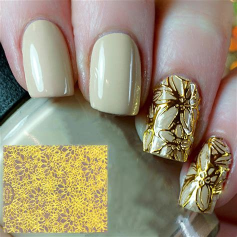 Nail Stickers by 0 99 1 Sheet Embossed 3d Nail Stickers Blooming Flower 3d