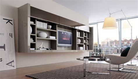 modern living room wall units  book storage