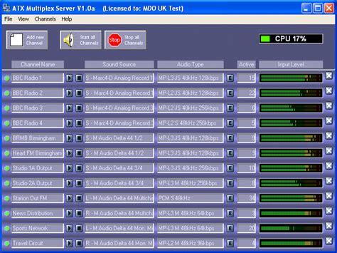 ip server software multicast audio server multi channel broadcast audio
