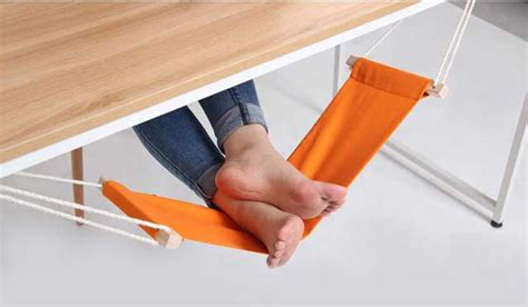 foot rest hammock footrest desk office adjustable