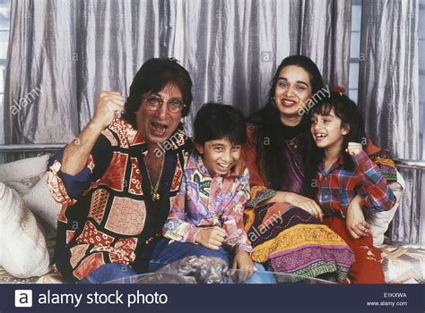 film india we are family portrait of indian film actor shakti kapoor with his