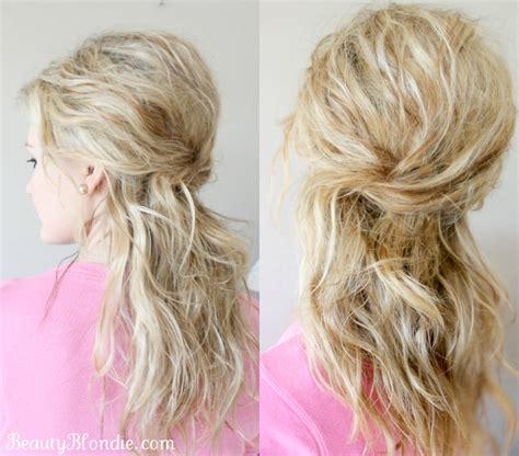 down hairstyles tutorial half up half down