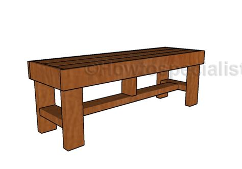 easy 2x4 bench 2x4 easy to build bench plans howtospecialist how to