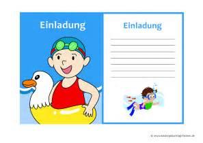 kindergeburtstag im schwimmbad lustige einladung zum kindergeburtstag kostenlose