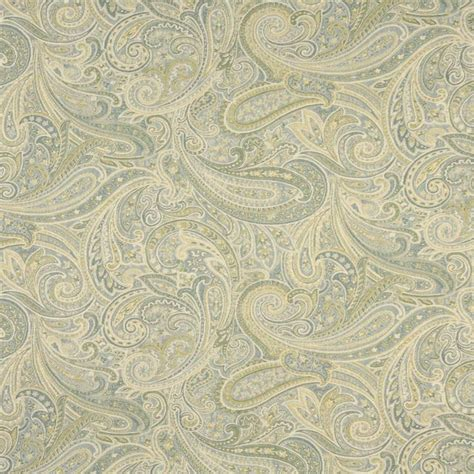 Blue Green Upholstery Fabric green blue and ivory paisley upholstery grade