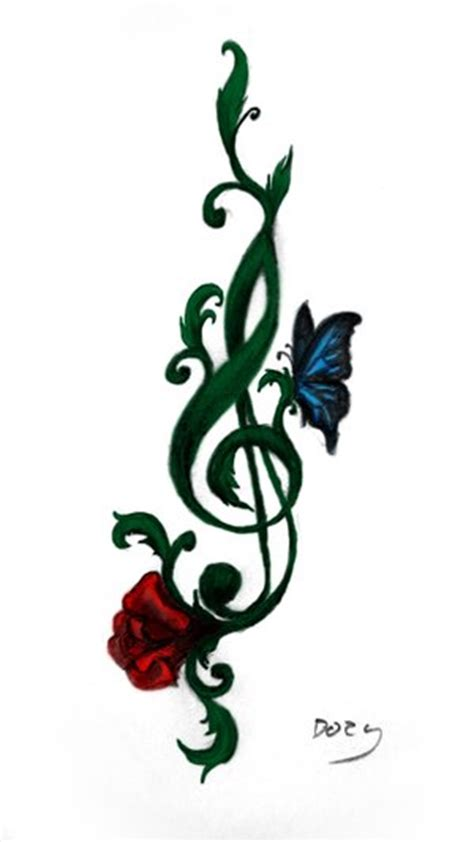 treble clef tattoo pictures clipart best