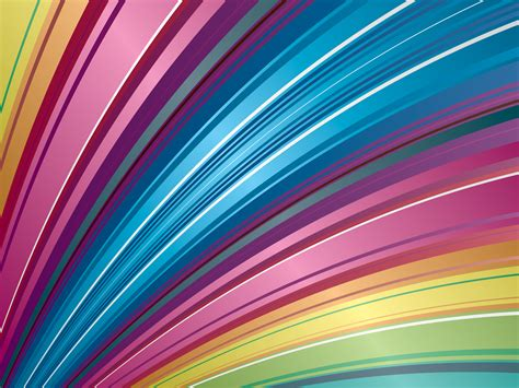 Colorful Rainbow Stripes Powerpoint Templates Abstract Free Ppt Backgrounds And Templates Rainbow Powerpoint Template