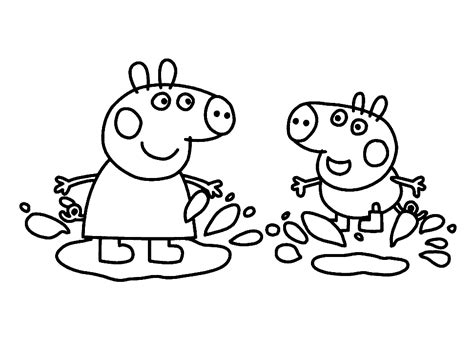 peppa pig cartoon coloring pages peppa pig coloring pages bestofcoloring com