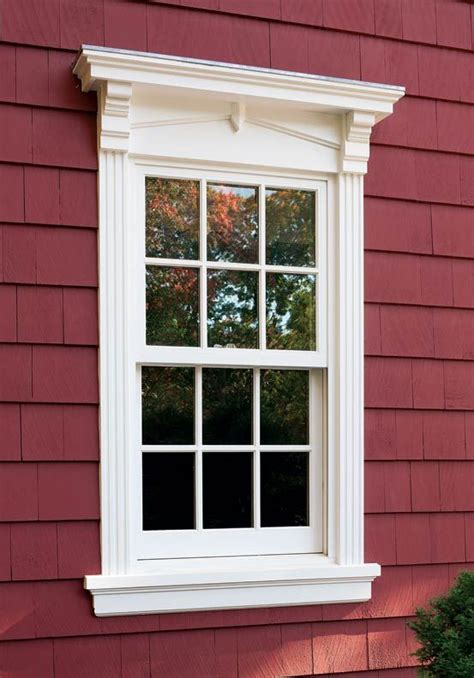 window trims window and exterior window trims on