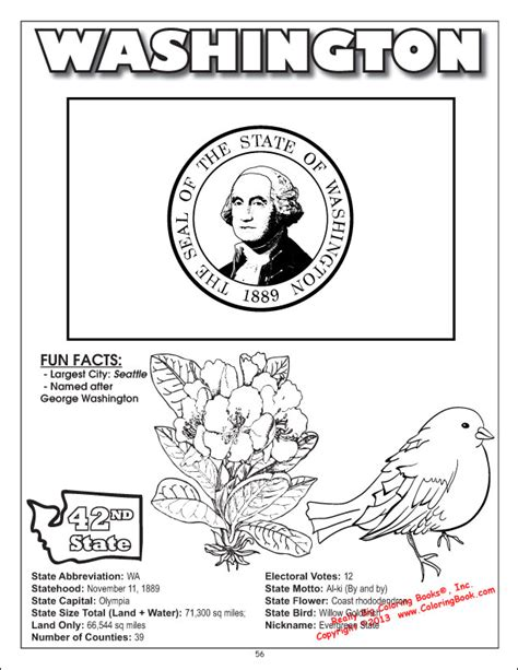 state washington books free coloring pages of pa state flag