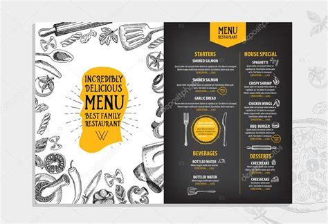menu template design italian restaurant menu template design stock vector