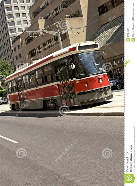 Toronto Business Section by Toronto Streetcar Royalty Free Stock Images Image 15324989