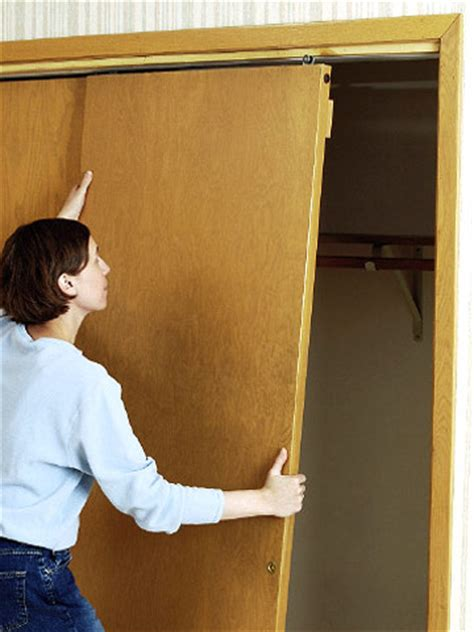 Installing Bypass Closet Doors Installing Bypass Doors How To Install House Doors Diy Advice