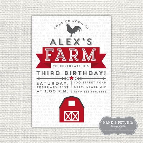 farm themed birthday invitations 62 best images about 2nd birthday party a farm party on