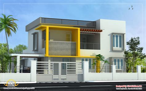 Duplex Floor Plans India by Modern Home Design 2643 Sq Ft Indian Home Decor